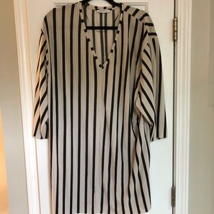 Zara striped tunic, size L, EUC